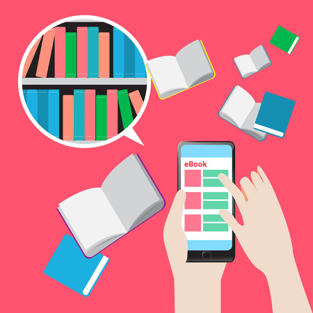 Concept e-Books for smartphone Library education and learning