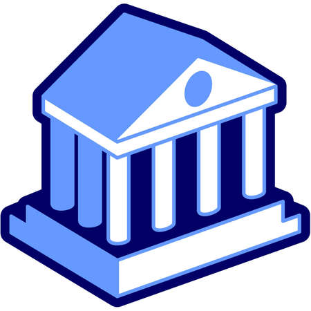 Bank columns federal FED stock exchange temple mint financial Illustration