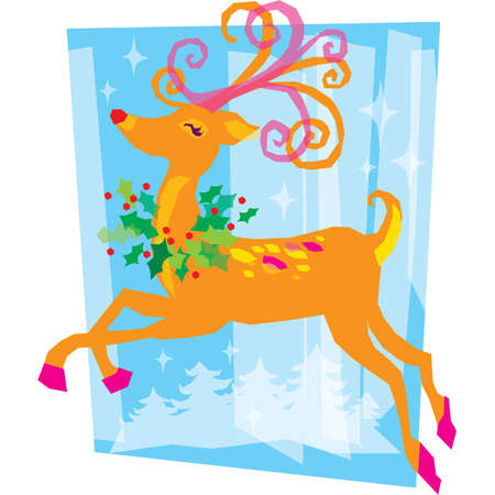 animal nose: Rudolph el reno de nariz roja