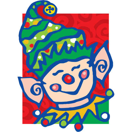Jolly little elf Vector