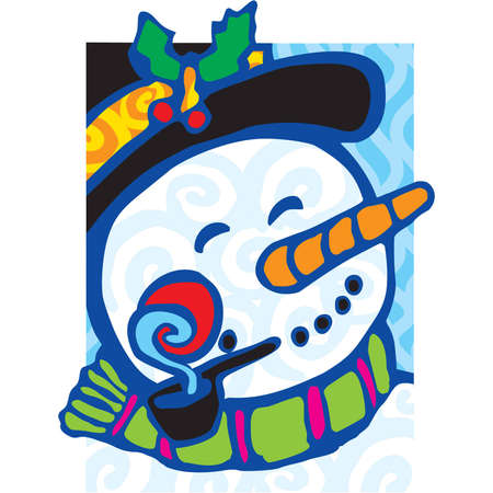 Frosty the Snowman on a cool winters day Vector