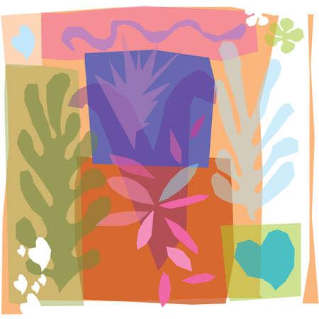 Matisse inspired modern design Vettoriali