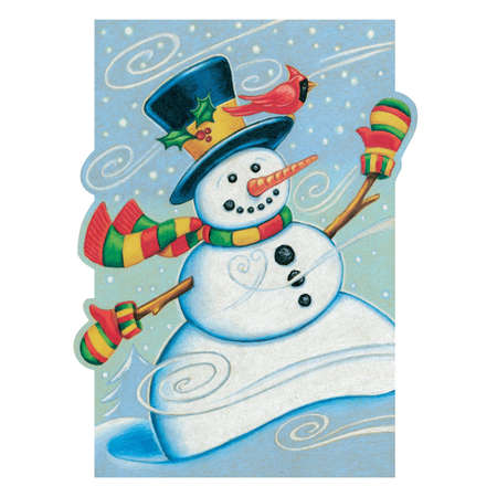 Winter Wonderland Snowman Stock Vector - 3542036