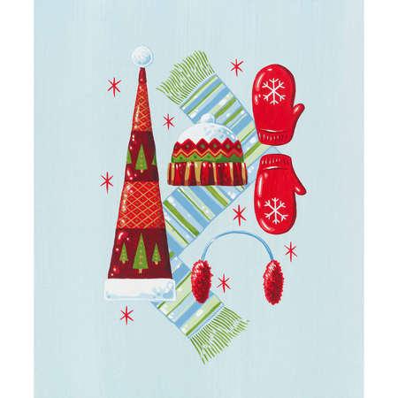 sciarpe: Vacanze di Natale cappelli, guanti, sciarpe e manicotti orecchio