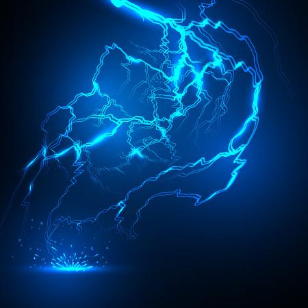 lightning storm: vector lightning flash strike background. Illustration