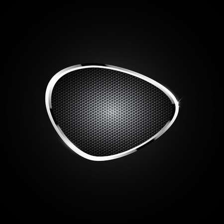 black metallic background: black vector background with metallic elements.