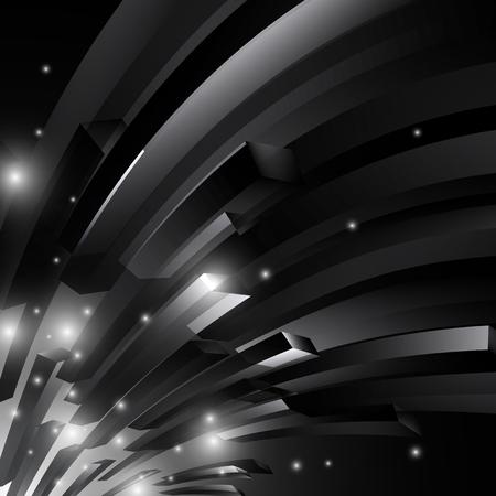shiny black: black and white space shiny abstract vector background illustration.EPS10 Illustration