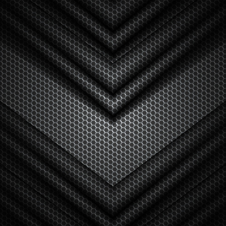 black and gray vector background with hexagons pattern texture.EPS10  イラスト・ベクター素材
