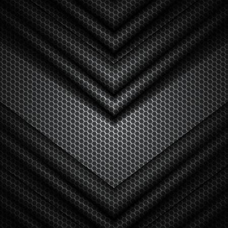 六角形パターンのテクスチャを黒と灰色のベクトルの背景。EPS10  イラスト・ベクター素材