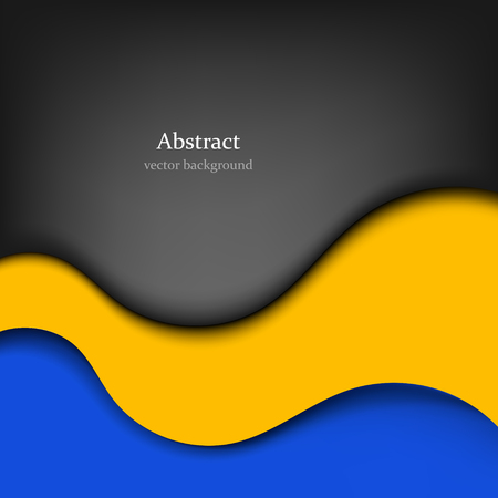 waves: abstract vector background with colored waves. Illustration