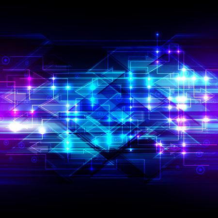 speed of light: vector digital speed technology, abstract background. Illustration