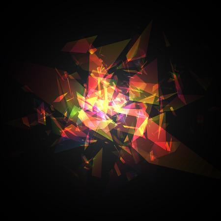 カラフル ・ テクノ スタイル ベクトル爆発。