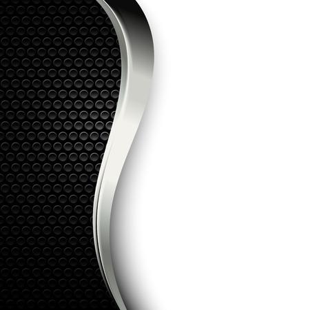 穴あき金属ドット テクスチャ。ダーク クロームの金属ストリップとの背景。産業スタイルの黒と白のモダンな壁紙