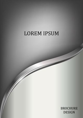 silver brochure template flyer design background