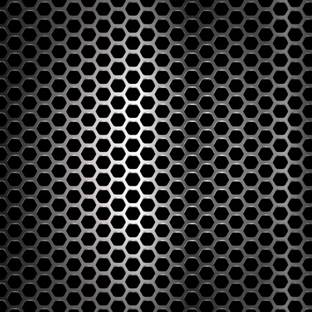 industrial hole: Metal background. Vector geometric pattern of hexagons