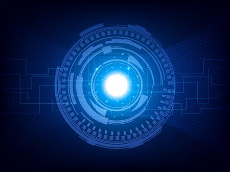 抽象的な未来技術、電気通信の背景をベクトルします。EPS10