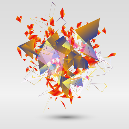 shards: abstract background with geometric shapes. Vector design for business presentations, flyers, posters Illustration
