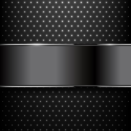 Background black metal texture. Vector illustration Ilustrace