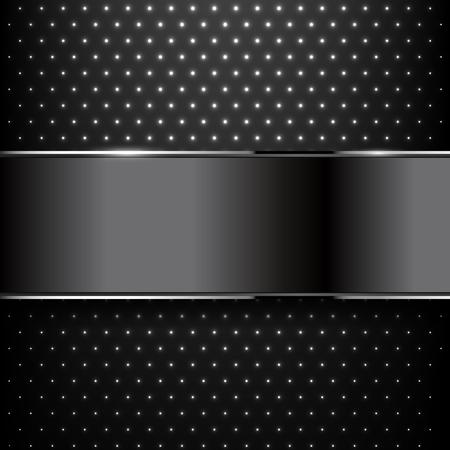 Background black metal texture. Vector illustration Illustration