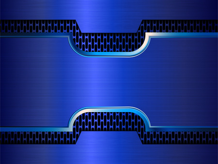 reflective: Abstract technology background. Vector metallic banner. EPS10
