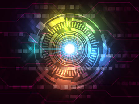 hi speed: Abstract varicolored vector hi speed internet technology background. EPS10