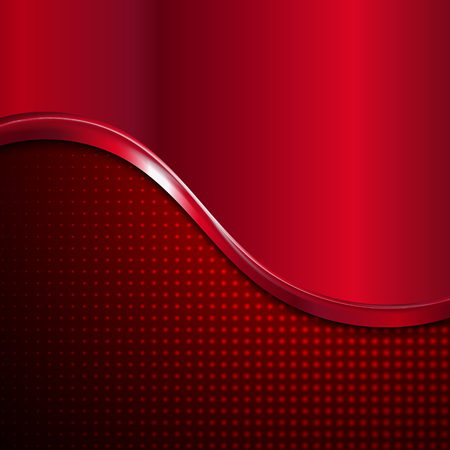 red metal: abstract red metal wave style vector background.