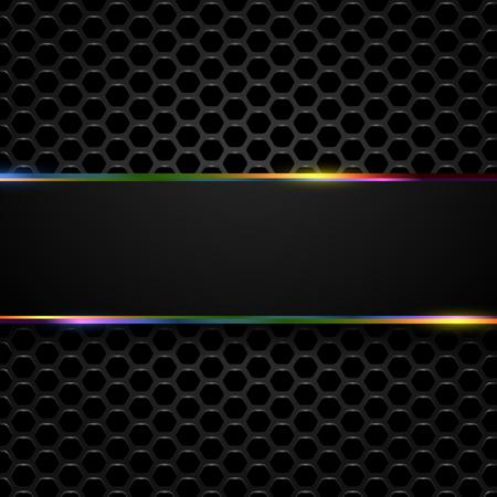 ハイテク メタリックな背景ベクトル抽象的なデザイン。