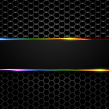 Hi-Tech Metallic Background  Vector Abstract Design.  Illusztráció
