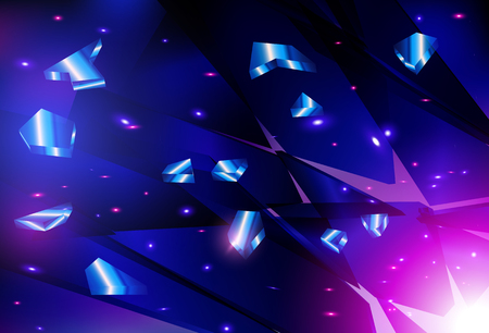 shards: Vector explosion techno style. Shards of glass. EPS10