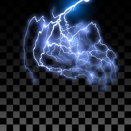zapping: Lightning on the transparent background. Vector illustration EPS10