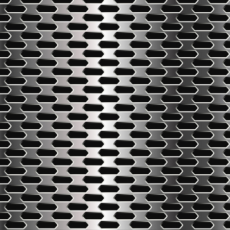 holes: Metal Grid. Silver Background with Holes.  Illustration