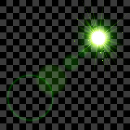 special effect: Glow special effect light on transparent background. Vector EPS10 Illustration