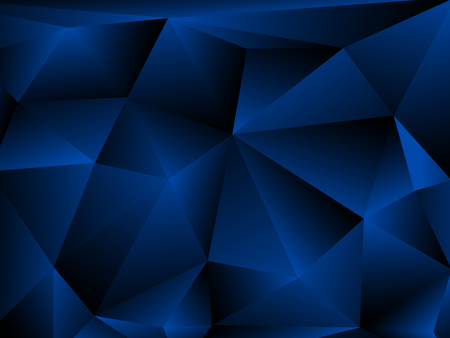 Blue Abstract Polygonal Background. Vector illustration EPS10