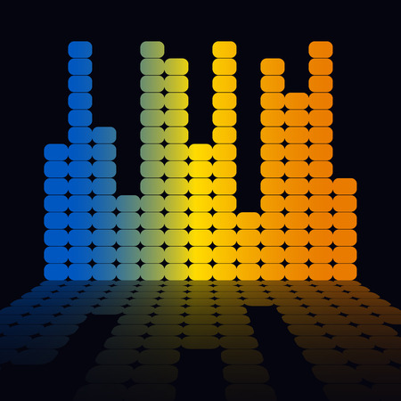 analyzer: Music equalizer. Vector illustration. EPS10 Illustration
