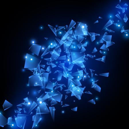 青いテクノ スタイル ベクトル爆発。ベクトル図 EPS10