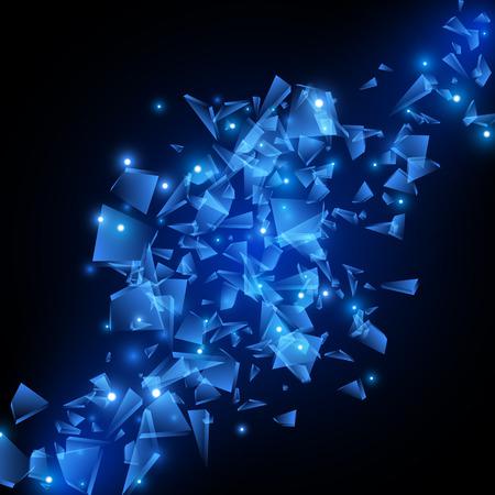 Blue techno style vector explosion. Vector illustration EPS10 Stock Illustratie