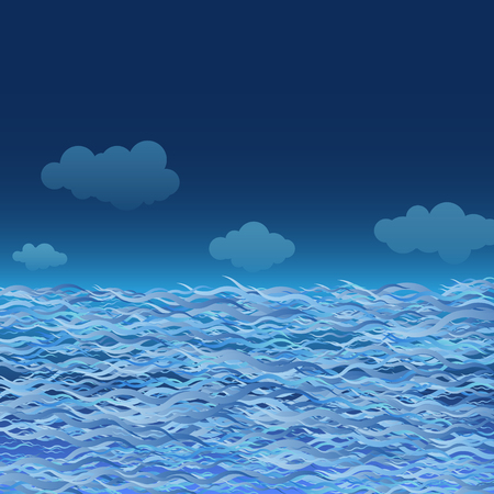 abstract waves: Blue Waves. Abstract Background. Vector Illustration EPS10 Illustration