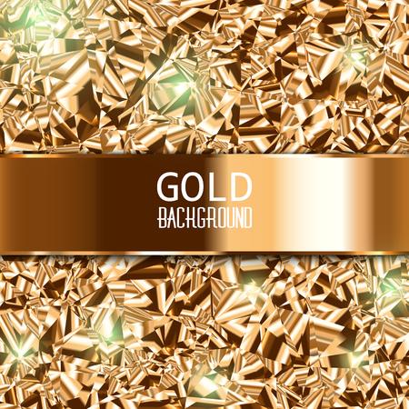 Gold-Hintergrund. Metall-Textur.