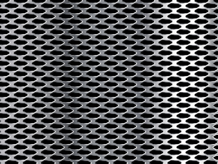 holes: Metal Grid. Silver Background with Holes.