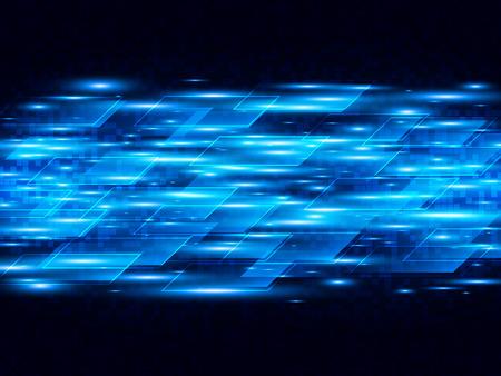 デジタル スピード技術をベクトル、ベクトルの背景にブルーのストライプを抽象化します。
