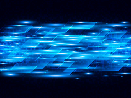 Vector digital speed technology, abstract vector background with blue stripes. Stock fotó - 52755856