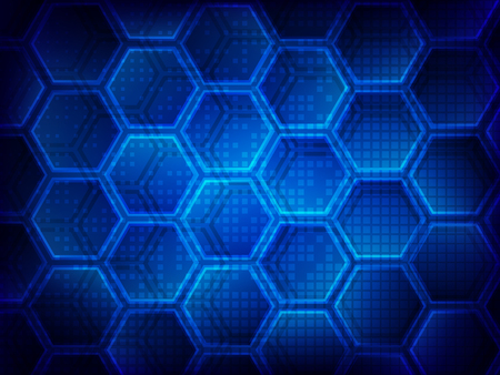 Background with hexagons. Hi-tech digital technology concept, abstract background.