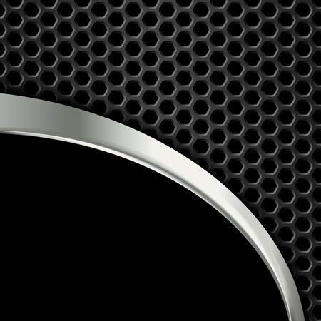 Zusammenfassung Metall Hintergrund. Geometrische Muster von Sechsecken. Vector Design-Vorlage. EPS10 Standard-Bild - 53122577