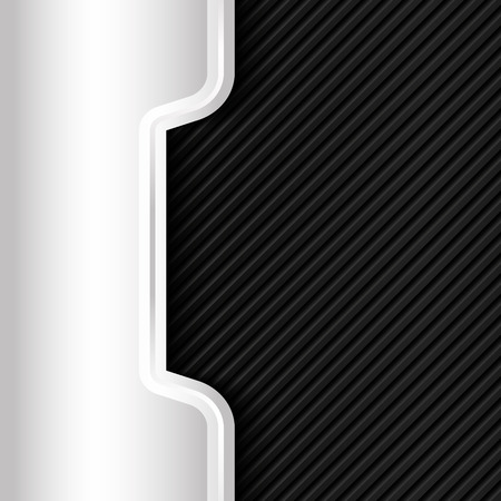 modern business: Metal background. Black and silver. Vector design template.