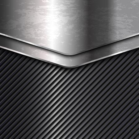 Silberne grunge Metallhintergründe. Vektor-Illustration Standard-Bild - 53890228