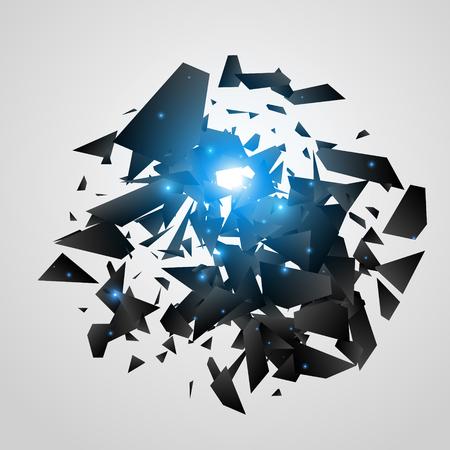 Abstract black explosion. Geometric background. Vector illustration Ilustrace