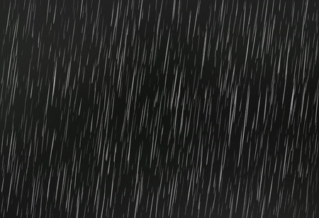 Rain on black. Vector rain texture. Abstract vector background. Stock Illustratie