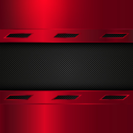red metal: Red and black metal background