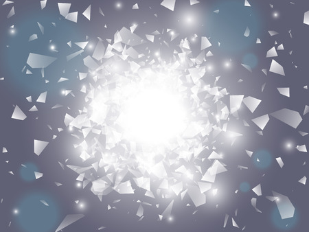 Vector explosion. Glow light effect