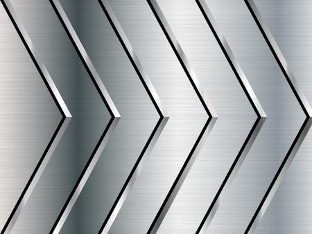Metalen textuur achtergrond. Roestvrij staal. vector illustratie